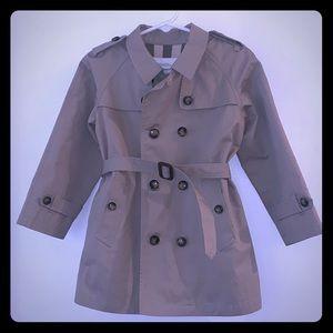 Burberry Children Classic Khaki Trench Coat NWOT